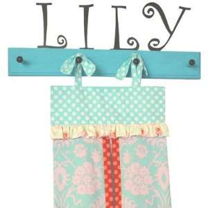 Persnickety Baby Diaper Stacker with Wooden Peg Rack (Lily Matilda)