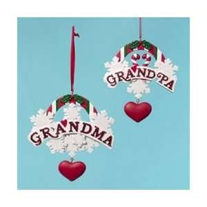 Club Pack of 12 Grandma & Grandpa Christmas Ornaments for