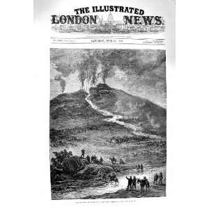 1879 Eruption Mount Etna Great Steam Lava Volcano