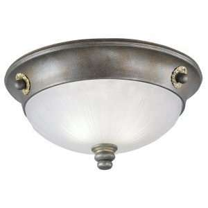 Westinghouse 69192   2 Light Excavated Bronze Ceiling Flush Mount