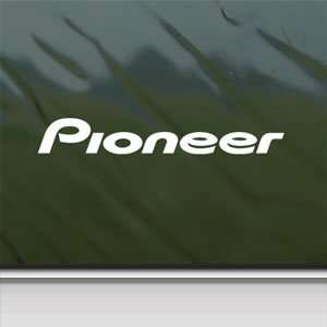 Pioneer Audio White Sticker Car Laptop Vinyl Window White