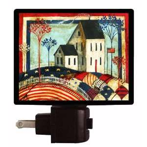 Patriotic Night Light   Patriotic Quilt   LED NIGHT LIGHT