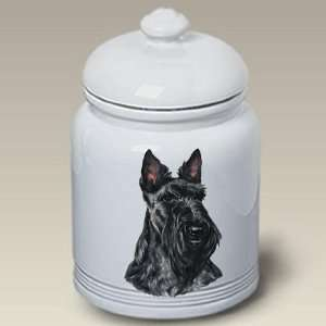 Scottish Terrier Dog   Linda Picken Treat Jar