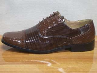 MENS ITALIAN STYLE BROWN DRESS SHOES SIZE 12 NEW