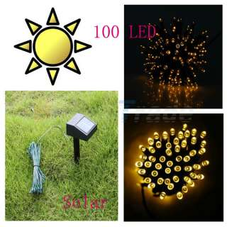 Solar Power Red 100 LED String Fairy Light Xmas Christmas Party