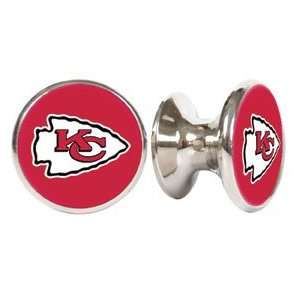 City Chiefs NFL Stainless Steel Cabinet Knobs / Drawer Pulls (2 pack