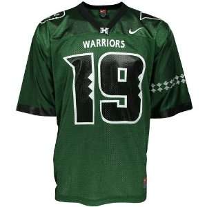 Nike Hawaii Warriors #19 Green Replica Football Jersey