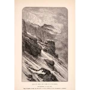 Mountain Whymper Volcano   Original Wood Engraving