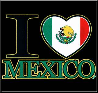 Love Mexico Mexican Flag Pride T Shirt S,M,L,XL,2X,3X