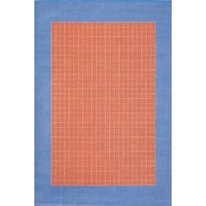 Checkered Field Design Rug 18x37 Bright Red