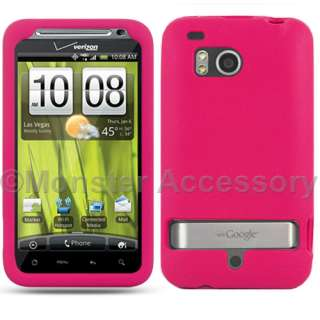 Pink Soft Skin Case Cover HTC Thunderbolt 4G Accessory