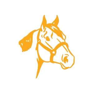 Quarter Horse medium 7 Tall GOLDEN YELLOW vinyl window