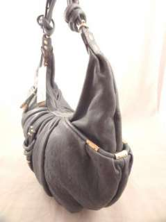 NWT Junior Drake SHELBY BLUE Italian Leather Handbag Purse Hobo