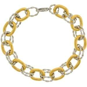 Inox Jewelry Womens French Rope Twist 316L Stainless