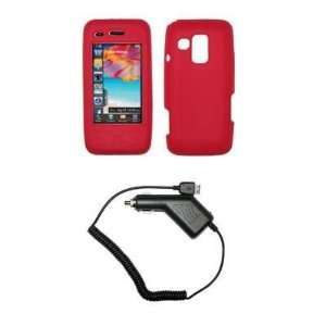 Premium Red Soft Silicone Gel Skin Cover Case + Rapid Car