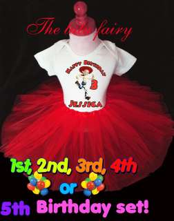 Toy Story Jessie Cowgirl Birthday Shirt & Red Tutu Set Outfit 1st 2nd