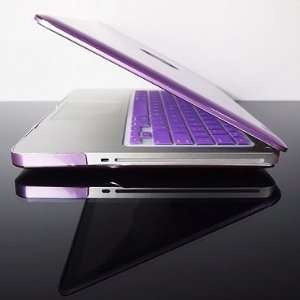 TopCase Metallic Solid Purple Hard Case Cover for Macbook