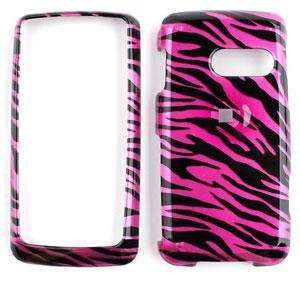 PINK/BLACK ZEBRA PRINT DESIGN SNAP ON CASE CELL PHONE