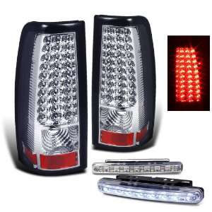Full Led Tail Lights Lamps + 8 Led Day Time Running Light Automotive
