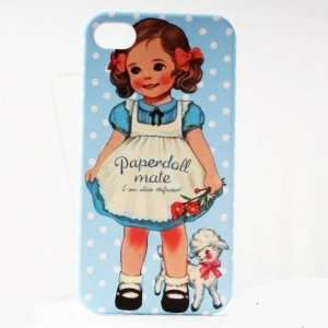 Skyblue Dot Sheep Painting Vintage Pinup Girl iPhone 4/4S