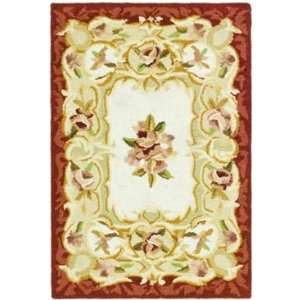 Safavieh Rugs Chelsea Collection HK73A 212 Ivory/Burgundy