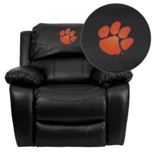 Flash Furniture Clemson University Tigers Embroidered Black Leather
