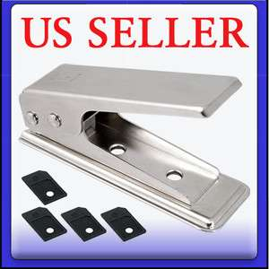 Micro Sim Card Cutter w/4 Sim Adapter for iPhone 3GS 4 G 4G OS 4S iPad