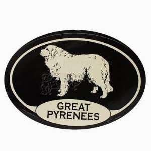 Euro Style Oval Dog Decal Great Pyrenees  Pet Supplies