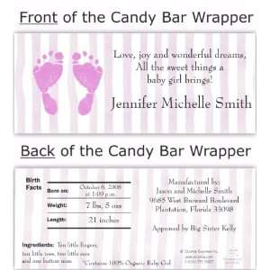 Pink Feet Candy Wrapper Baby