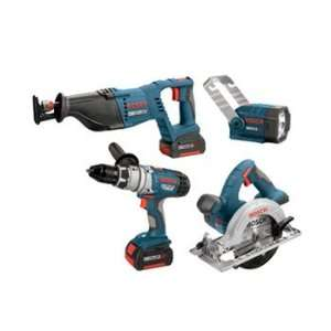Factory Reconditioned Bosch CLPK40 180 RT 18 Volt Litheon 4 Tool Combo
