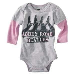 THE BEATLES Abbey Road Newborn Baby Infant Girls Onesie Bodysuit in