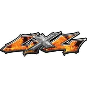 Wicked Series 4x4 Truck Bed Side Decals Inferno Flames Automotive