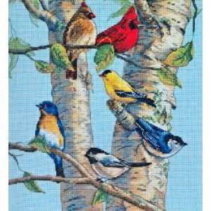 Birch Tree Birds kit (cross stitch) Arts, Crafts & Sewing