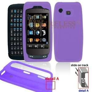 Light Purple Transparent Silicone Skin Cover Case Cell