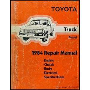 1984 Toyota Pickup Truck Repair Shop Manual Original