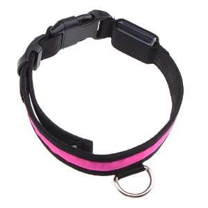 Adjustable LED Illumination Pet/Dog Collar, Small, Pink