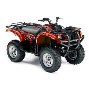 AMR Racing Yamaha Grizzly 660 ATV Quad Graphic Kit   Madhatter Red