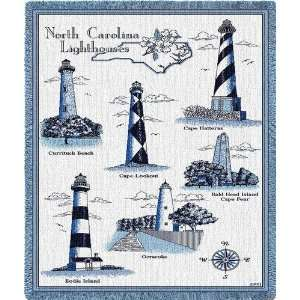 Lighthouses of North Carolina Tapestry Throw Blanket