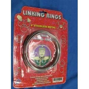 Chinese Linking Rings   5 S.S.   Beginner Magic T Toys