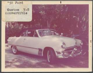 Color Car Photo 1950 Ford Custom Convertible 671423