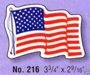 American Flag Decal QTY 2500 Wholesale lot No 216