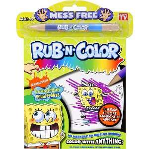 SpongeBob SquarePants Rub N Color Mini Book Sports
