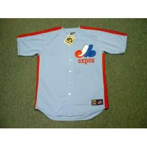 MONTREAL EXPOS 1980s Majestic Cooperstown Throwback Away