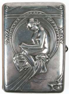 IMPERIAL RUSSIAN 84 ART Nouveau Presentation Silver Cigarette CASE