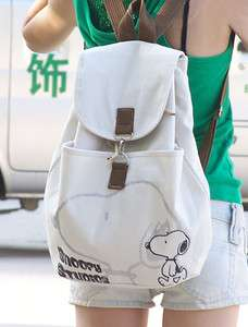 Korean style Ladys Girls Mickey Canvas backpack handbag shoulder bag