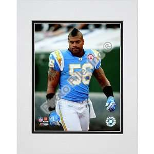 Photo File San Diego Chargers Shawne Merriman Matted Photo