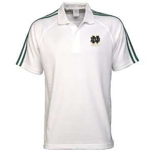 adidas Notre Dame Fighting Irish White Campus Classic Polo