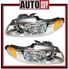 New Pair Set Headlight Headlamp w/Quad SAE and DOT 98 0 (Fits