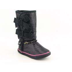 Sugar Kids LMoragami Infant Toddler Black Boots (Size 10)