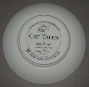 FRANKLIN MINT CAT COLLECTORS PLATE   CAT TALES g